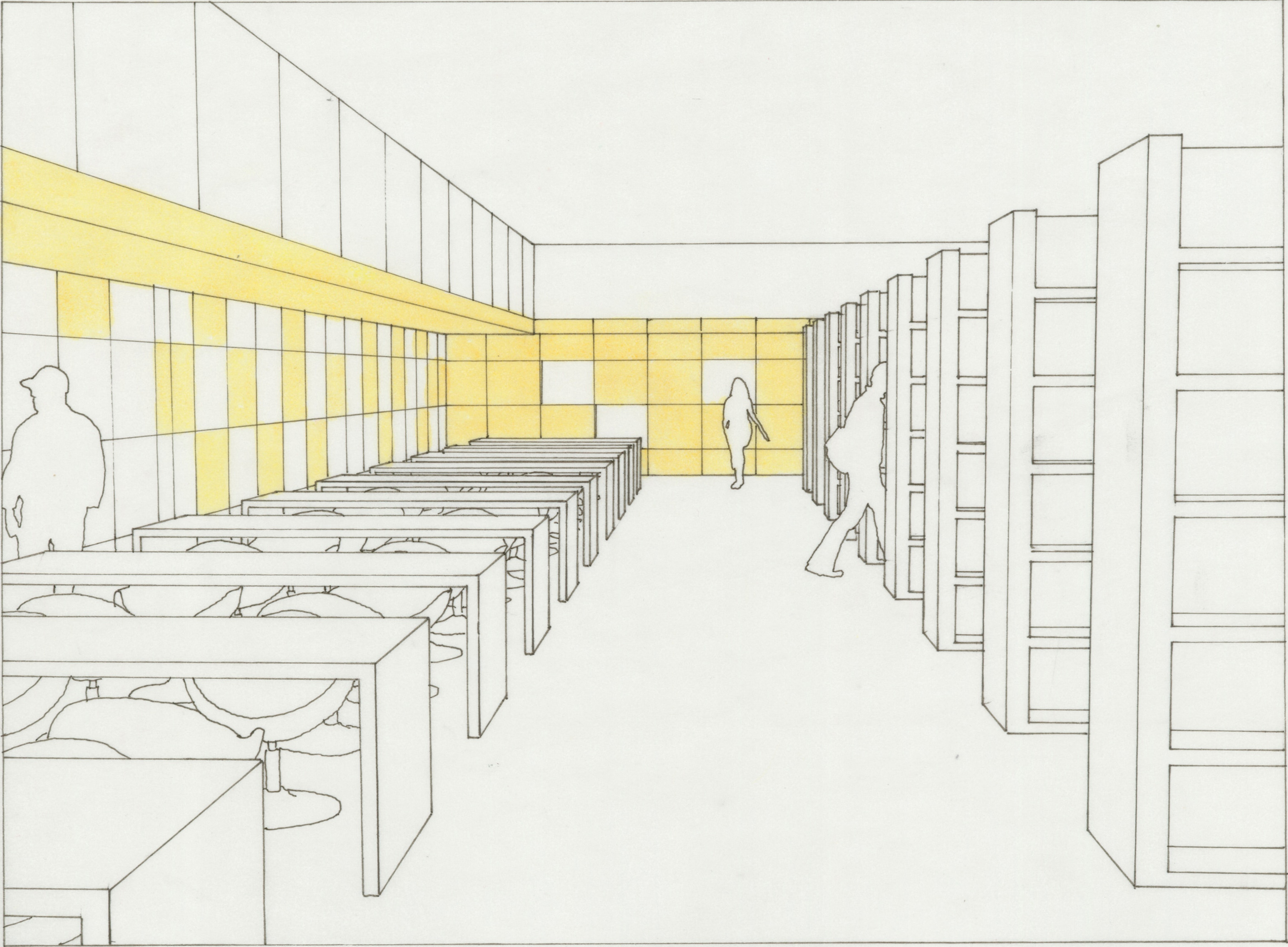 The New Library Interior Sketch 3